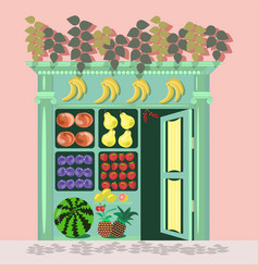 small fruit store vector image