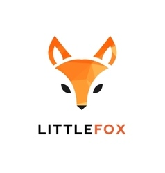 trendy minimalistic red fox head logo in vector image