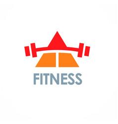 triangle fitness logo vector image