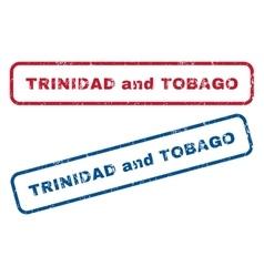 Trinidad and tobago rubber stamps vector