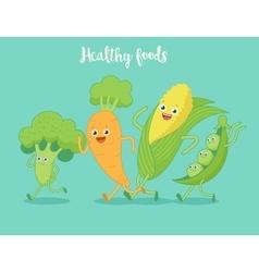 Vegetables fun run vector