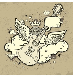 Rock guitar vector
