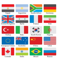 Flags set vector