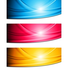 Bright waves banners vector image