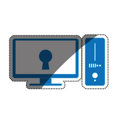Pc computer lock security privacy vector
