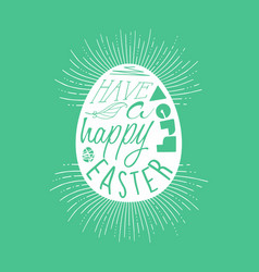 Happy easter egg typography quote design vector
