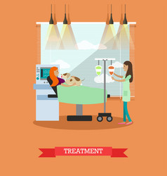 Disability and medical treatment vector