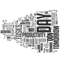 The increase in productivity technique text vector