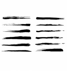 Grunge brushes vector