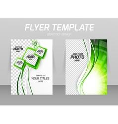 Flyer template vector