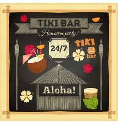 Tiki chalk bar vector