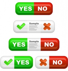 yes and no icon set vector image