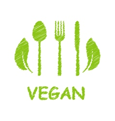 Green healthy food icon vector