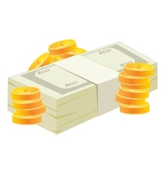 Pack of the money and coins vector