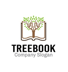 Tree book design vector