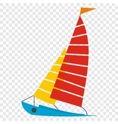 Sailing yacht icon vector