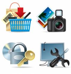 Computer and web icons ii vector