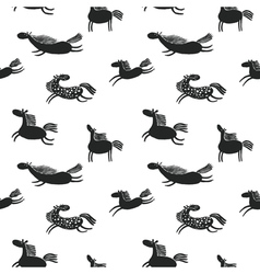 Horses seamless vector