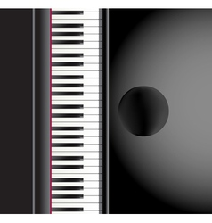 piano and a chair background vector image