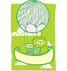 Happy Lion Balloon Banner vector image