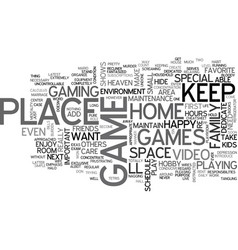 A video game environment of your own text word vector