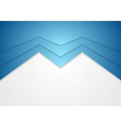 Abstract blue arrow concept background vector image vector image