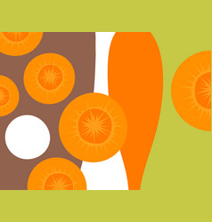 Abstract vegetable design cut carrots vector