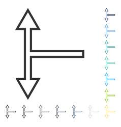 Bifurcation arrow up down icon vector