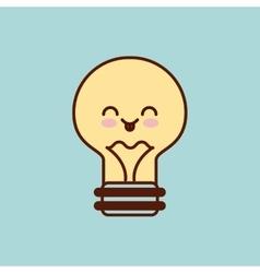 bulb character kawaii style vector image vector image