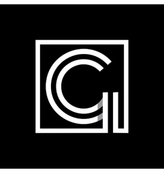 Capital letter g monogram logo emblem vector