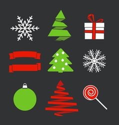 Chistmas objects vector