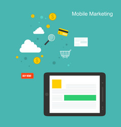 collection mobile marketing style design vector image