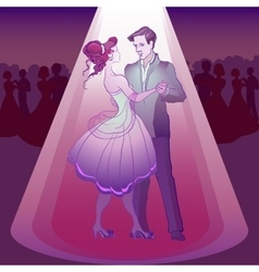 Couple dancing waltz vector image