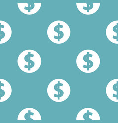 dollar pattern seamless blue vector image