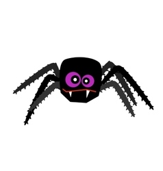 Halloween spider isolated on white vector image