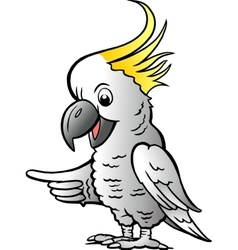 Hand-drawn of an sulphur crested cockatoo vector