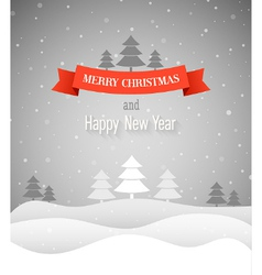 Merry Christmas vintage greeting card vector image