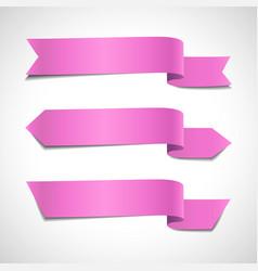 pink arrow banners set vector image vector image