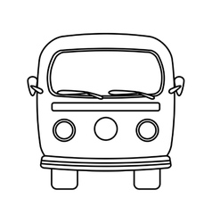 retro van isolated icon design vector image