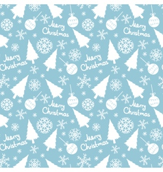 seamless pattern of christmas elements vector image