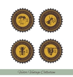 Set of labels for honey 1 vector image vector image