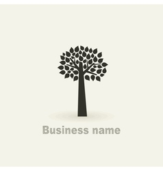 Sign a tree vector image