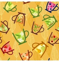 Teacups pattern vector