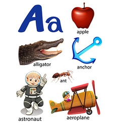 Things that start with the letter A vector image vector image