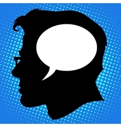 Thoughts in the head business concept vector image vector image