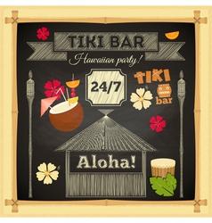 Tiki chalk bar vector