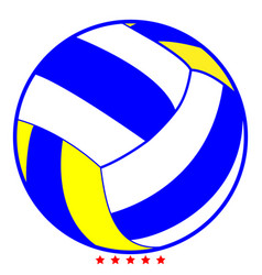 Volleyball ball icon color fill style vector