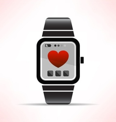 wearable love vector image vector image