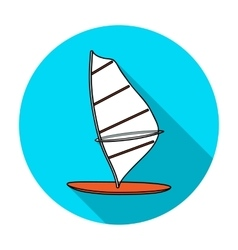 Windsurf board icon in flat style isolated on vector