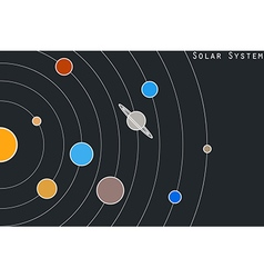 The planets of the solar system in original style vector